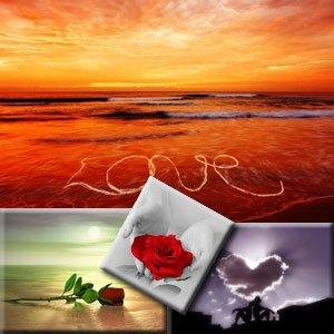 30 прекрасных фонов на тему любви