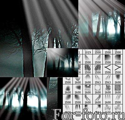 кисти для фотошопа лес: