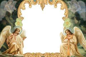 Рамка с днём ангела для фотошопа
