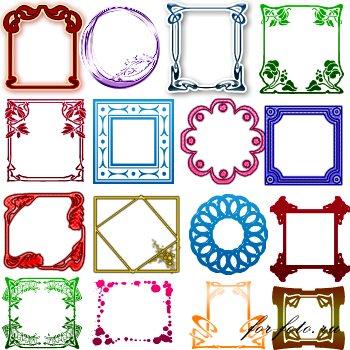 Фигуры рамки для фотошопа