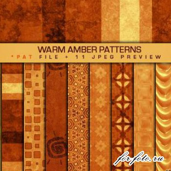 ������� ��������� Warm Amber Patterns