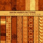 Warm Amber Patterns