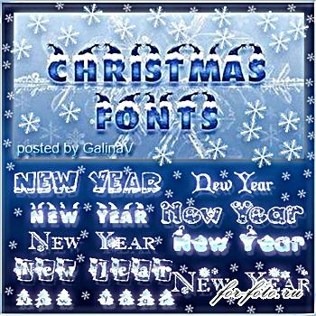 55 новогодних оформительных шрифтов